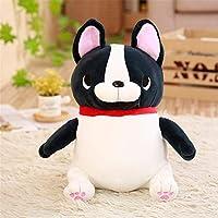 かわいい座っブルドッグフィル人形ぬいぐるみの動物の人形の枕の贈り物,黒,40cm