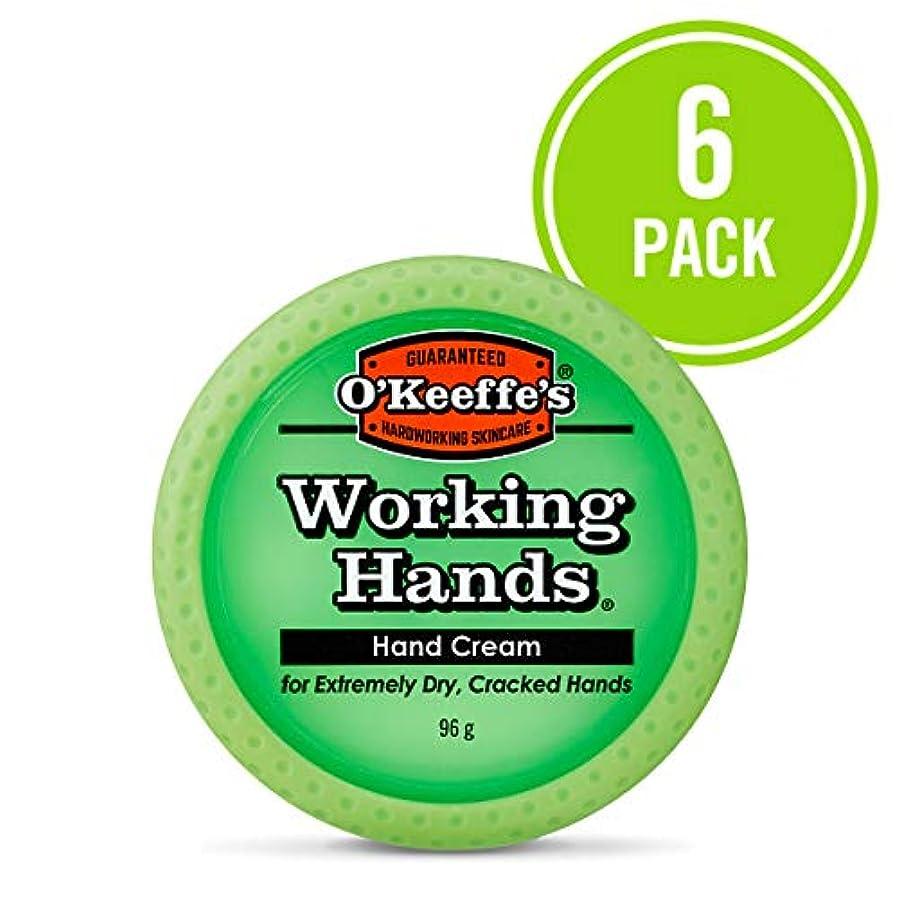 波人口フローO ' Keeffe 's Working Hands Hand Cream, 3.4オンス、Jar 6- Pack K0350002-6 6