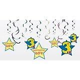 スパイラルデコレーション BOY 3rd 3歳 バースデー 男の子 お誕生日の飾り