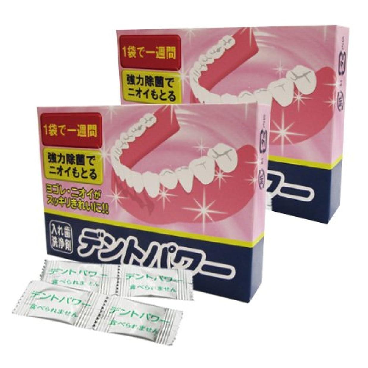 傭兵ランダム団結するデントパワー 入れ歯洗浄剤 5ヵ月用x2個セット