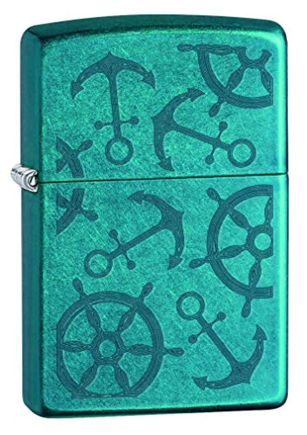 エンジン行進流産ZIPPO(ジッポー) Color Ice Lighters ( カラー アイス ライター) 日本未発売 Cerulean Nautical [並行輸入品]