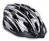 【ノーブランド品】クールスタイル! 超軽量 高剛性! 自転車用 サイクリング ヘルメット (シルバー&ブラック)