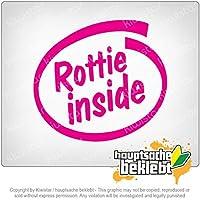 内ロッテ Rottie inside 11cm x 10cm 15色 - ネオン+クロム! ステッカービニールオートバイ