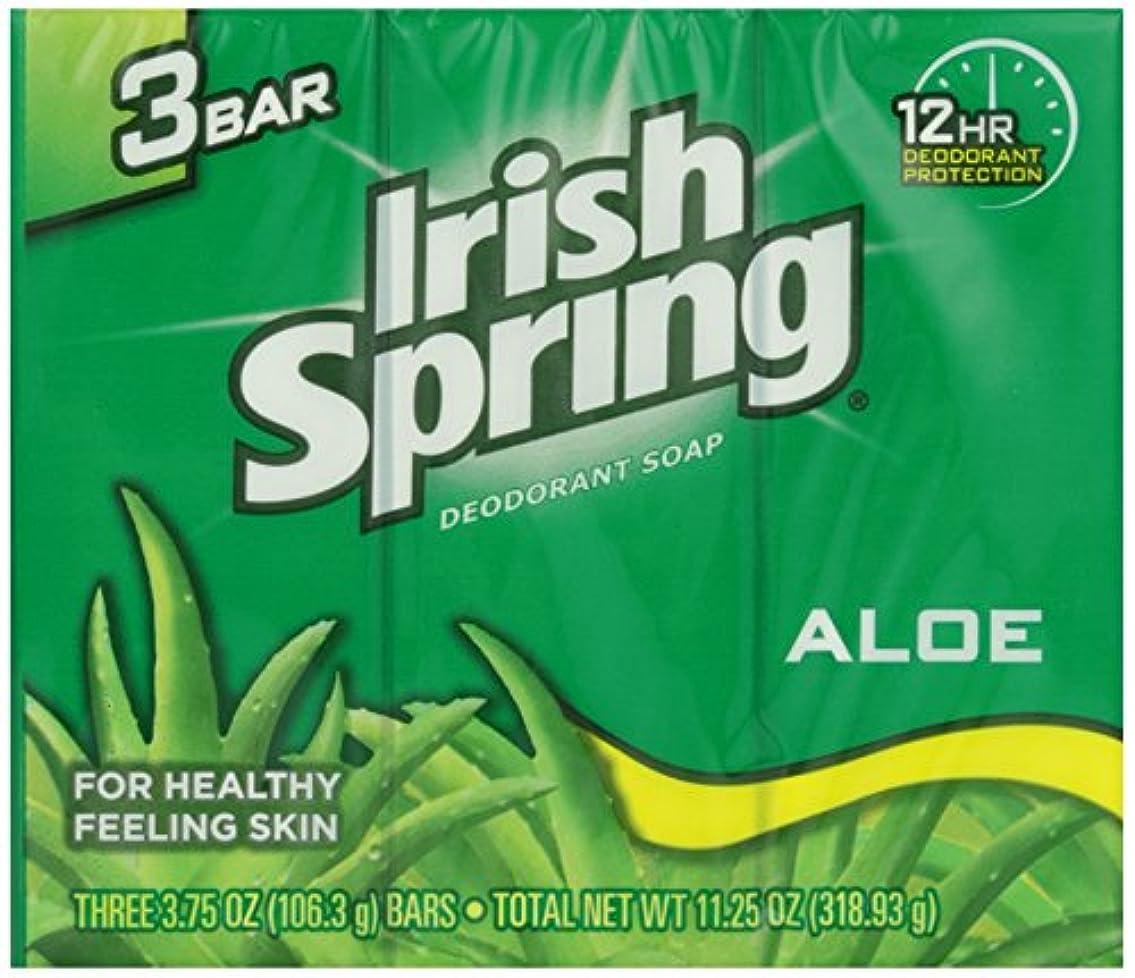 上院ドロップ病的Irish Spring バスバーアロエ3 Pkを