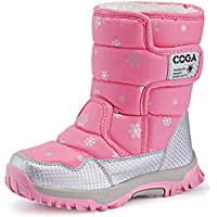 K&T Kids Boots Girls Boys Winter Snow Boots Outdoor Waterproof Non-Slip Sneakers(Toddler/Little Kid/Big Kid)