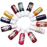 13 Colorful Kit Epoxy UV Resin Liquid Dye Colorant Pigment Mix Color for DIY Hobbiers