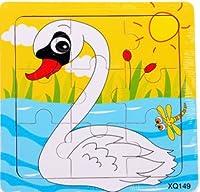 新品! 動物ガチョウ  9ピース  木製のおもちゃ パズル 誕生日のプレゼント  おもちゃ 知育玩具  幼児教育アプリシリーズ  知識を増すおもちゃ雑貨  木制品  zqzb0256-5