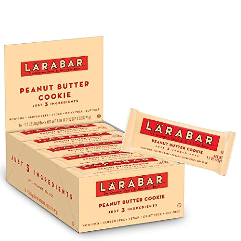 カラスゴシップ裁判官ララバー(LARABAR) ピーナッツバタークッキー 1ケース(16本入り)[海外直送品]