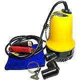 水中ポンプ 海水 小型 軽量 24V 最大排出量 70リットル/分 アウトドア (24V)