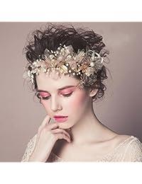 髪飾り 花冠 結婚式 二次会 花嫁 ヘッドドレス ウェディング 和装 ブライダル ホワイト フラワー