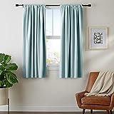 """AmazonBasics Blackout Curtain Set - 52"""" x 63"""", Seafoam Green"""