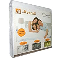 Mezzati #1 Premium Hypoallergenic Mattress Protector - ON SALE - Waterproof, Dust Mite Proof, Vinyl Free - High Quality - Best, Softest Protector Ever! Lifetime Warranty! (Cal King) by Mezzati