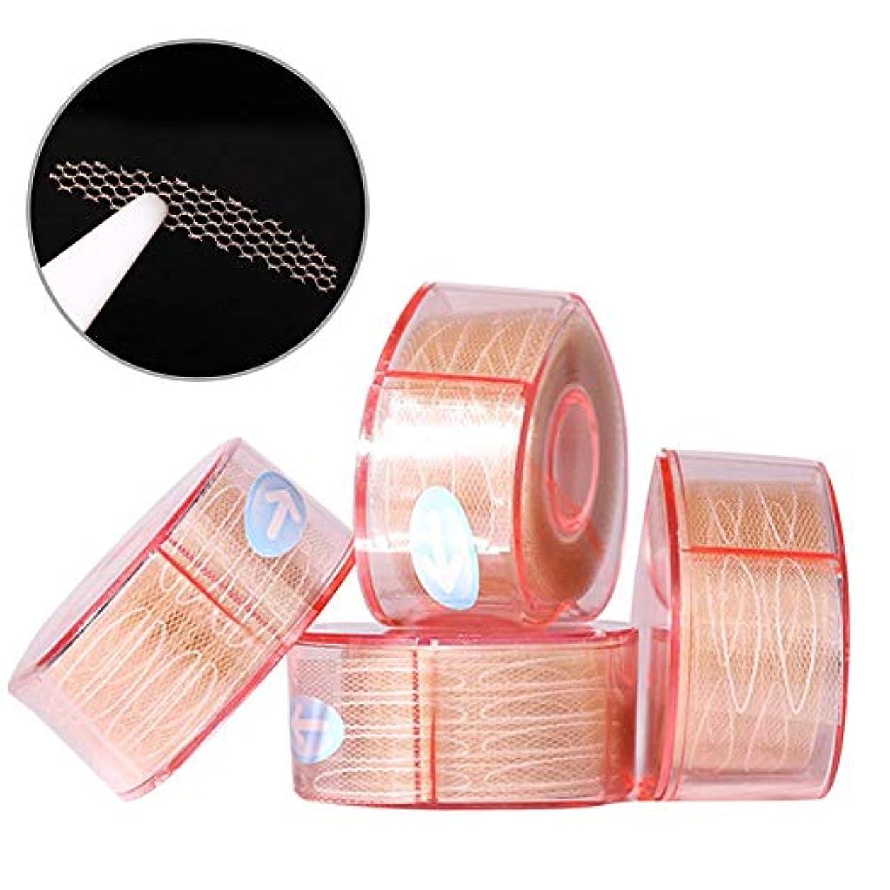 プランター適切な泣くナチュラルアイテープ 二重まぶたステッカー 二重まぶたテープ 300組セット メッシュ 見えない バレない 通気性 アイメイク 4タイプ選べる junexi