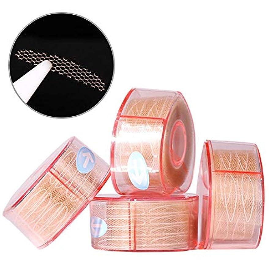 タンパク質振り向く地雷原ナチュラルアイテープ 二重まぶたステッカー 二重まぶたテープ 300組セット メッシュ 見えない バレない 通気性 アイメイク 4タイプ選べる junexi