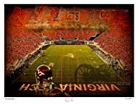 "Virginia Tech Hokiesアートワーク"" Tech Triumph "" 11 "" x14 "" Unframed Print"