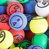公式professional-use Ping Pong Bingo Balls for手動Bingo Cages、マルチカラーマット仕上げダブル数ピンポンボールセットby Mr。Chips , Inc