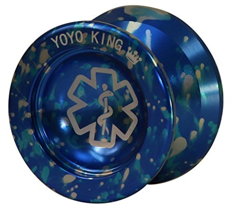 Yoyo King Blue Dr. Smalls 3/4 Sized Metal Yoyo with Narrow Responsive and Wide Nonresponsive C Bearing and Extra Yoyo String [並行輸入品]
