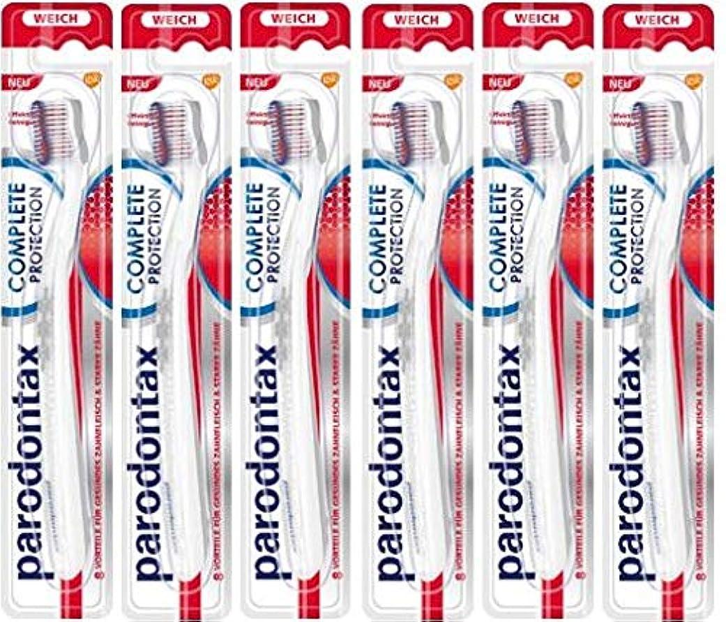 ピンチエミュレーション圧力6本セット Parodontax 歯ブラシ ソフト Complete Protection toothbrush soft【並行輸入品】