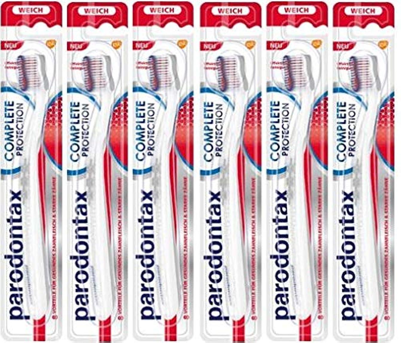こんにちはかるクリック6本セット Parodontax 歯ブラシ ソフト Complete Protection toothbrush soft【並行輸入品】