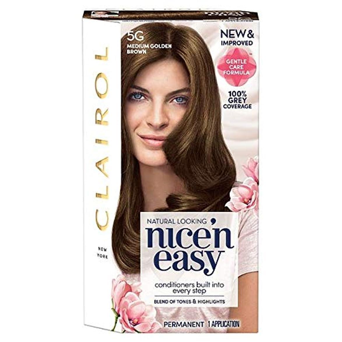 広範囲許容できる篭[Nice'n Easy] クレイロール素敵な「N簡単媒質黄金色に5グラムの染毛剤 - Clairol Nice 'N Easy Medium Golden Brown 5G Hair Dye [並行輸入品]