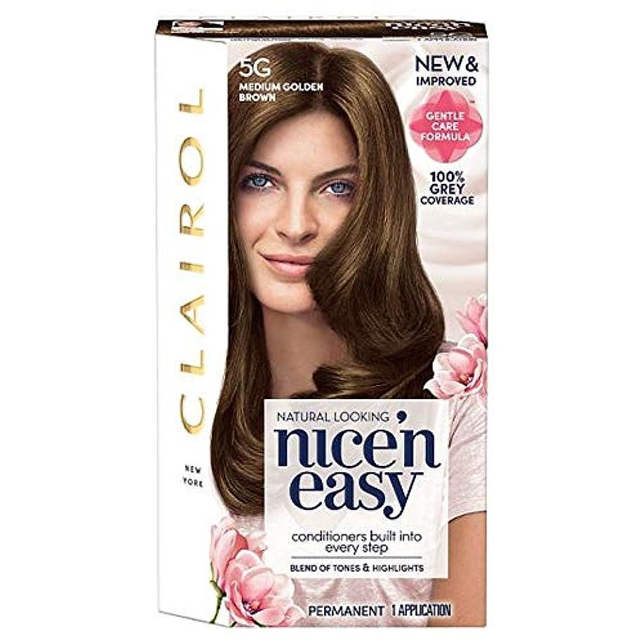 強調する監督する第[Nice'n Easy] クレイロール素敵な「N簡単媒質黄金色に5グラムの染毛剤 - Clairol Nice 'N Easy Medium Golden Brown 5G Hair Dye [並行輸入品]