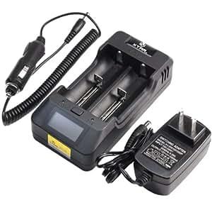 2014 XTAR VP2 インテリジェント 高速充電器 フルセット (16340~18650/18700/26650)