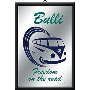 フォルクスワーゲン VW Bulli - Freedom on the road / パブミラー ミラー 鏡 壁掛け用