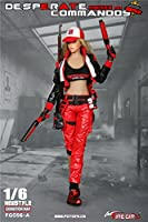 【R・DOLL】 Fire Girl Toys 1/6 女性 フィギュア ドール 素体 用 【 服 ・セット 】 戦闘 服 帽子 武器 カジュアル ホビー 兵士 女性 美人 セクシー コスプレ 衣装 情景 飾り アクセサリー FG056 【R・DOLL/TBLeague/PHICEN 1/6素体の全サイズに対応】