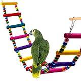 バードトイ オウムブランコ オウムおもちゃ 鳥グッズ 小鳥のおもちゃ ストレス解消 木製 マルチカラー 12木棒