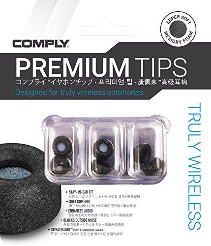 Comply(コンプライ) Truly Wireless ブラック Mサイズ 3ペア スマートコア イヤホンチップス ザ ワイヤレス...