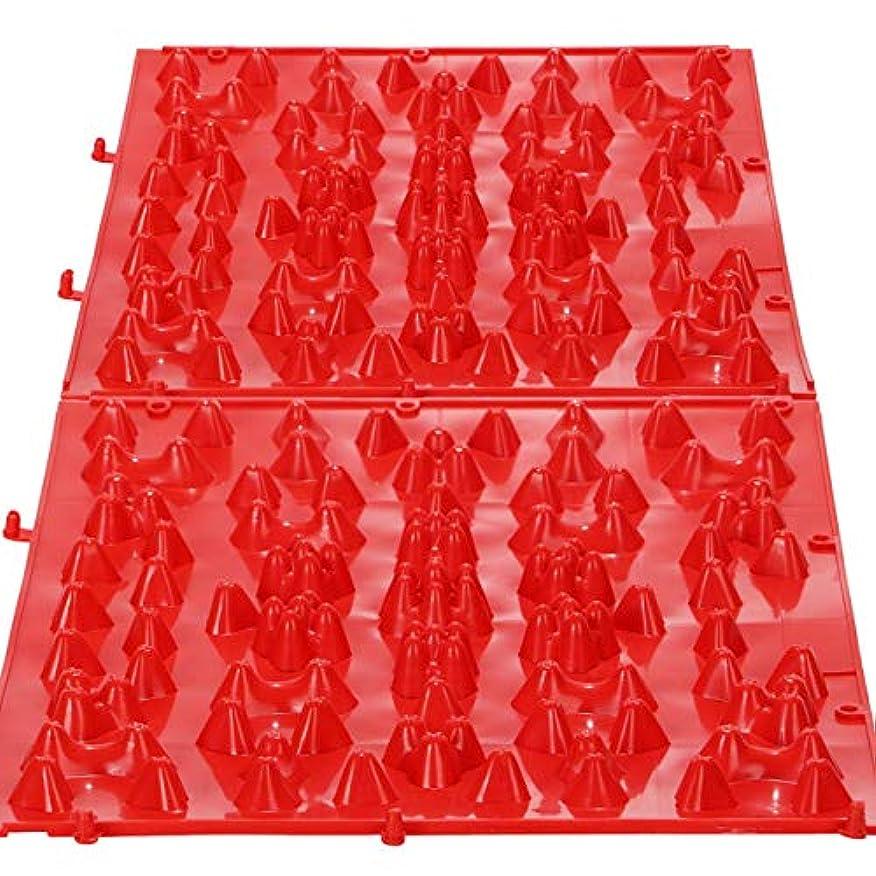 礼儀アカデミー虫を数えるまがり堂【元気を呼び戻せ「足つぼキャニオンマット」】(選べる5タイプ)(2枚組)【HARDレッド2個】
