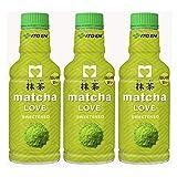 伊藤園 抹茶 matcha LOVE (SWEETENED) パウダーインキャップ 190ml×3本