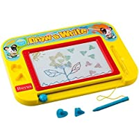 Buyus [Travel Size] Color Magnetic Drawing Board for Kids/Toddlers/Babies with 2 Stamps and 1 Pen- Retail Box- Also Named Mini Imaginarium Magic Magical Doodle/Scribble/Writing/Draft/Sketch Tablet Pad [並行輸入品]