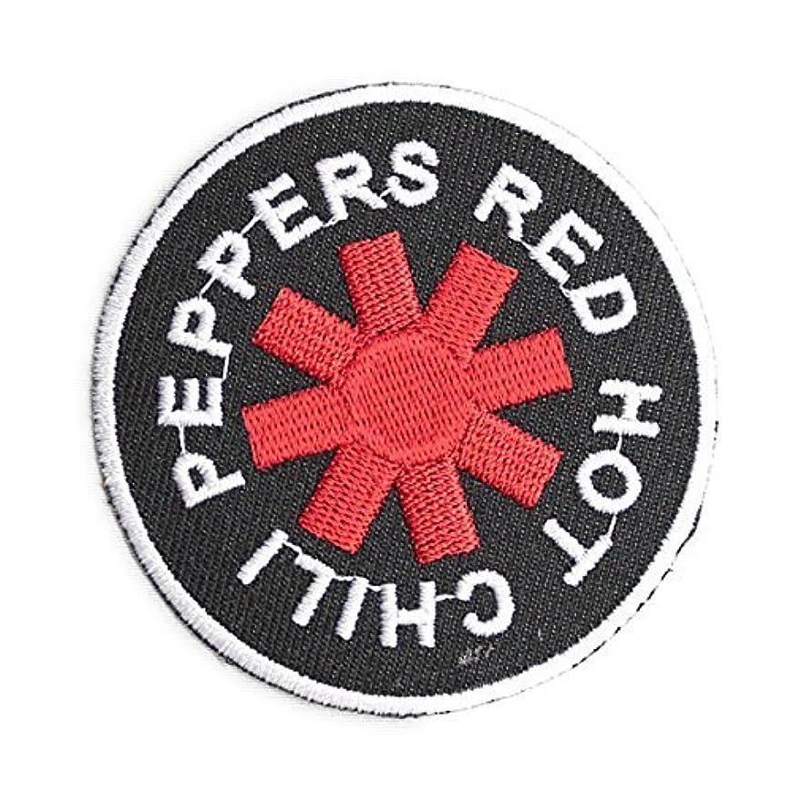 ツインアソシエイトかみそりノーブランド品 RED HOT CHILI PEPPERS レッチリ MUSIC ワッペン 黒