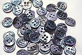 17型高瀬貝ボタン染色ブルー 10mm [1個]