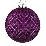 Best Vickermanクリスマスツリー - Vickerman 529904-2.75インチ プラム デュリアン グリッターボール クリスマスツリーオーナメント (12個パック) (N188426D) Review