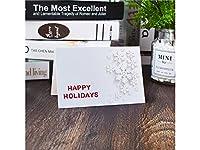 FenBuGu-JP 1 Pcクリスマスグリーティングカードクリスマスバレスカード封筒招待状カードギフトカード(ホワイト)