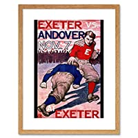 Ad Sport Football Exeter Andover Phillips Framed Wall Art Print