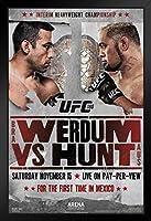 UFC 180 ファブリシオ・ヴェウドゥム対マーク・ハント スポーツ額入りポスター 12x18 18x12 inches