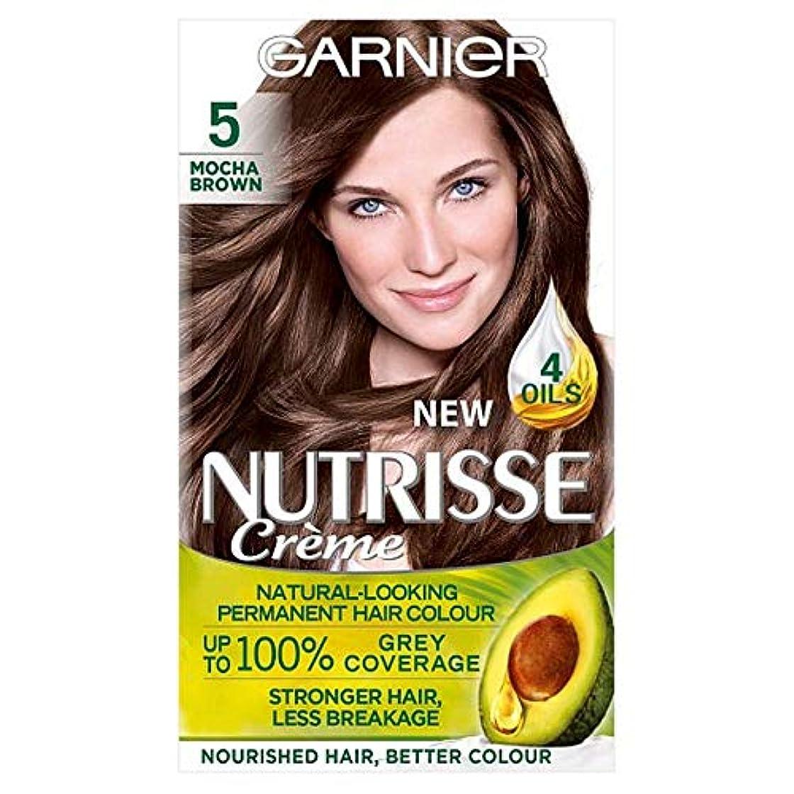 スマイル小康滑りやすい[Nutrisse] 5茶色の永久染毛剤Nutrisseガルニエ - Garnier Nutrisse 5 Brown Permanent Hair Dye [並行輸入品]