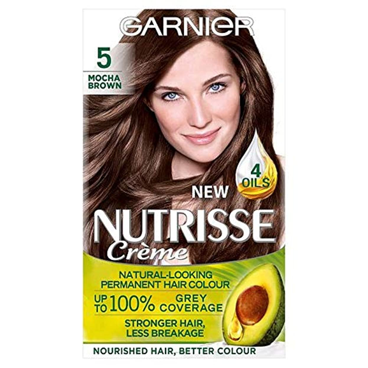 リビングルーム二層入口[Nutrisse] 5茶色の永久染毛剤Nutrisseガルニエ - Garnier Nutrisse 5 Brown Permanent Hair Dye [並行輸入品]