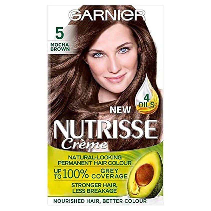 アマチュアよりマイルストーン[Nutrisse] 5茶色の永久染毛剤Nutrisseガルニエ - Garnier Nutrisse 5 Brown Permanent Hair Dye [並行輸入品]
