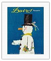ダボス、スイス - パルセン山スキー場 - ビンテージな世界旅行のポスター によって作成された ハーバート・ルーピン c.1956 - キャンバスアート - 41cm x 51cm キャンバスアート(ロール)