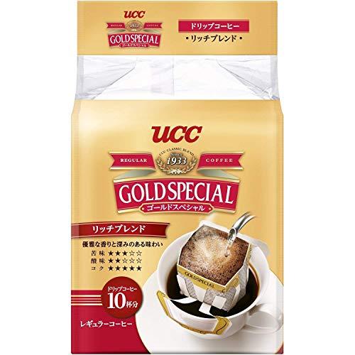 ゴールドスペシャル ドリップコーヒー リッチブレンド 粉 8gx10p 80g