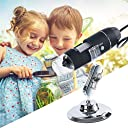 1600X HD Digital Microscope Magnifier Handheld USB Microscope with Metal Stand