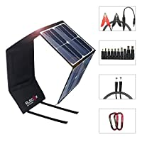 ELEGEEK 50W High Efficiency Folding Solar Panel Charger Built in icGEEK Fast Charge with USB (5V) + DC (12V) Output (50W 5V/12V) [並行輸入品]