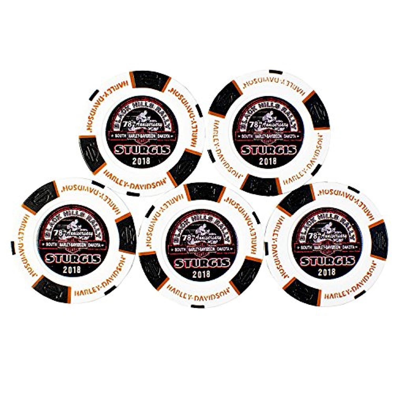 Harley-Davidson Black Hills Group 78th Sturgis Rally Poker Chip 5 Store Setハーレーダビッドソンブラックヒルズグループ78thスタージスラリーポーカーチップ5ストアセット [並行輸入品]