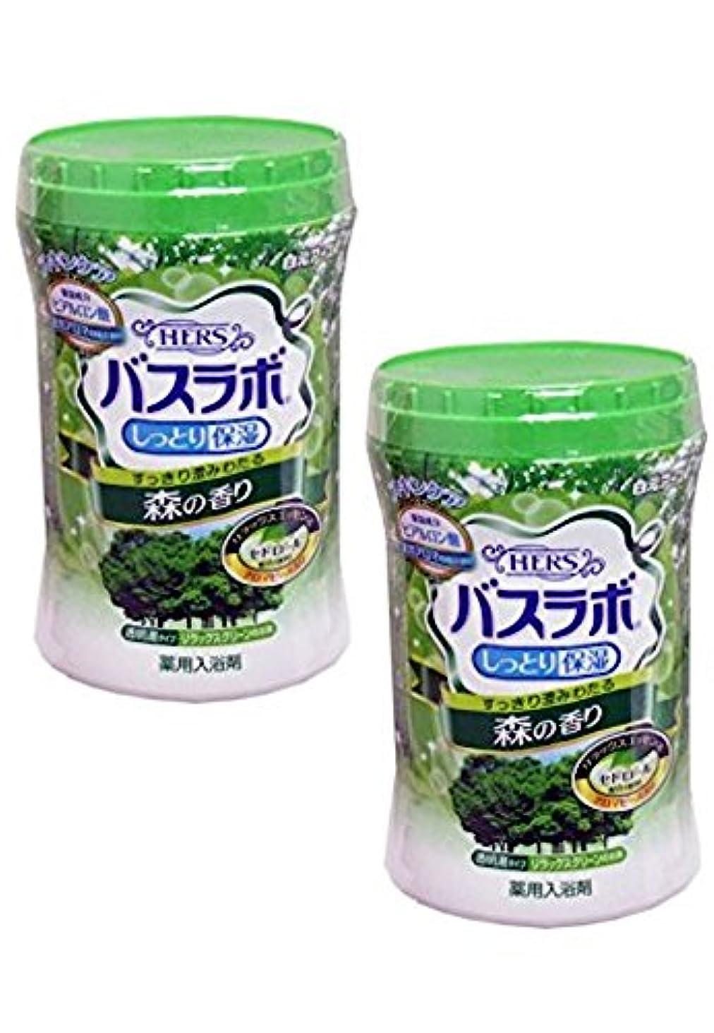 素敵なトランスペアレントいつもバスラボ しっとり保湿 薬用入浴剤 森の香り 680g 2個 [並行輸入品]