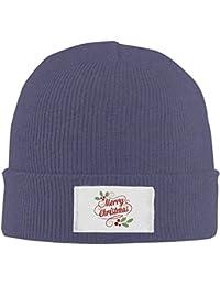 ニット帽 アクリル製 クリスマス Xmas ニットキャップ 帽子 男女兼用 防風 防寒 通気性 6色展開 フリーサイズ Black