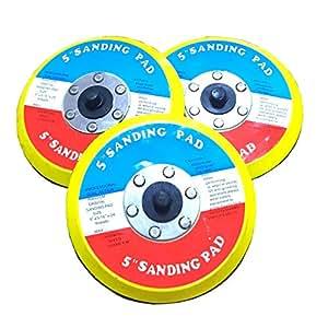 マジック パッド サンディング ダブルアクション サンダー ディスク グラインダー 125mm 3個 セット